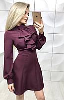 Женское нарядное платье с длинным рукавом в разных цветах