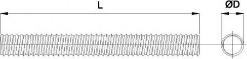 Шпилька резьбовая  М12х2000 DIN 975 цб 4.8