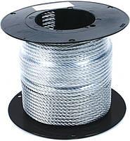 Трос стальной в оплетке ПВХ DIN 3055 (6х7) 4x5 мм