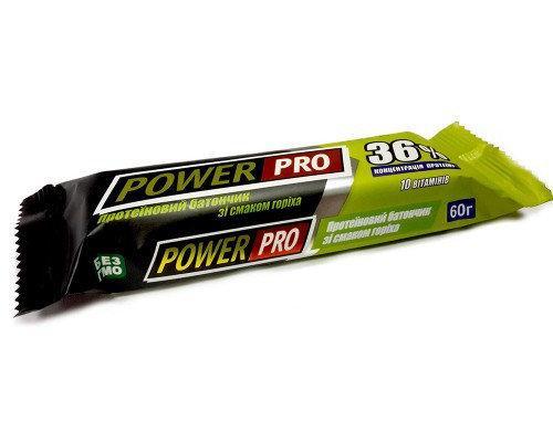 Power Pro Протеиновый батончик 36% орех, 60 г, 20 шт