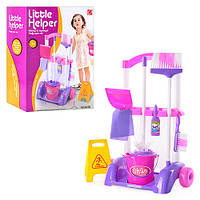 Детский игровой набор для уборки с тележкой Little Helper Маленькая помощница 667 К