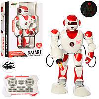 """Игрушка на радиоуправлении для мальчиков """"Робот"""" K2 музыка, звук, свет, ездит, ходит Royaltoys"""
