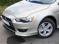 Клыки переднего бампера Mitsubishi Lancer X (2007-) AVTM
