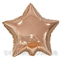 """Фольгований куля-зірка рожеве золото 19"""" AS-101 ArtShow"""