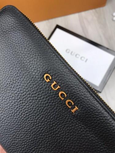674053517323 Стильный кожаный кошелек Gucci черный натуральная кожа мужской женский  бумажник Гуччи качественная реплика, ...