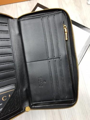02761882c7c3 ... Стильный кожаный кошелек Gucci черный натуральная кожа мужской женский  бумажник Гуччи качественная реплика, ...