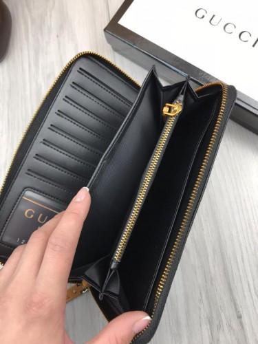 14ef48b62c15 ... Стильный кожаный кошелек Gucci черный натуральная кожа мужской женский  бумажник Гуччи качественная реплика, фото 10