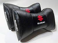 Подушка на подголовник Suzuki черная
