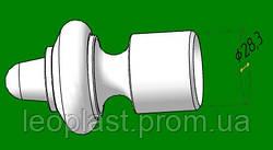 Насадка для трубчатого карниза 28 мм