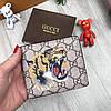 Мужской кошелек Gucci портмоне тигр коричневый новая модель 2018 года бумажник кожа PU Гуччи люкс реплика
