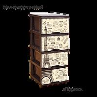 Комод с рисунком Париж 46,5х39,5х95,5 Алеана 123093
