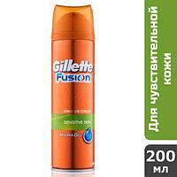 Gillette Fusion гель для бритья Sensitive, 200 мл