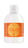 Шампунь с льняным маслом и с фильтром от ультрафиолета для окрашенных и поврежденных волос Kallos, 1000 мл