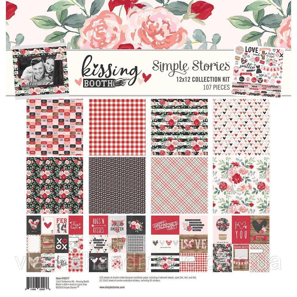 Набір двостороннього паперу - Kissing Booth - Simple Stories - 30x30