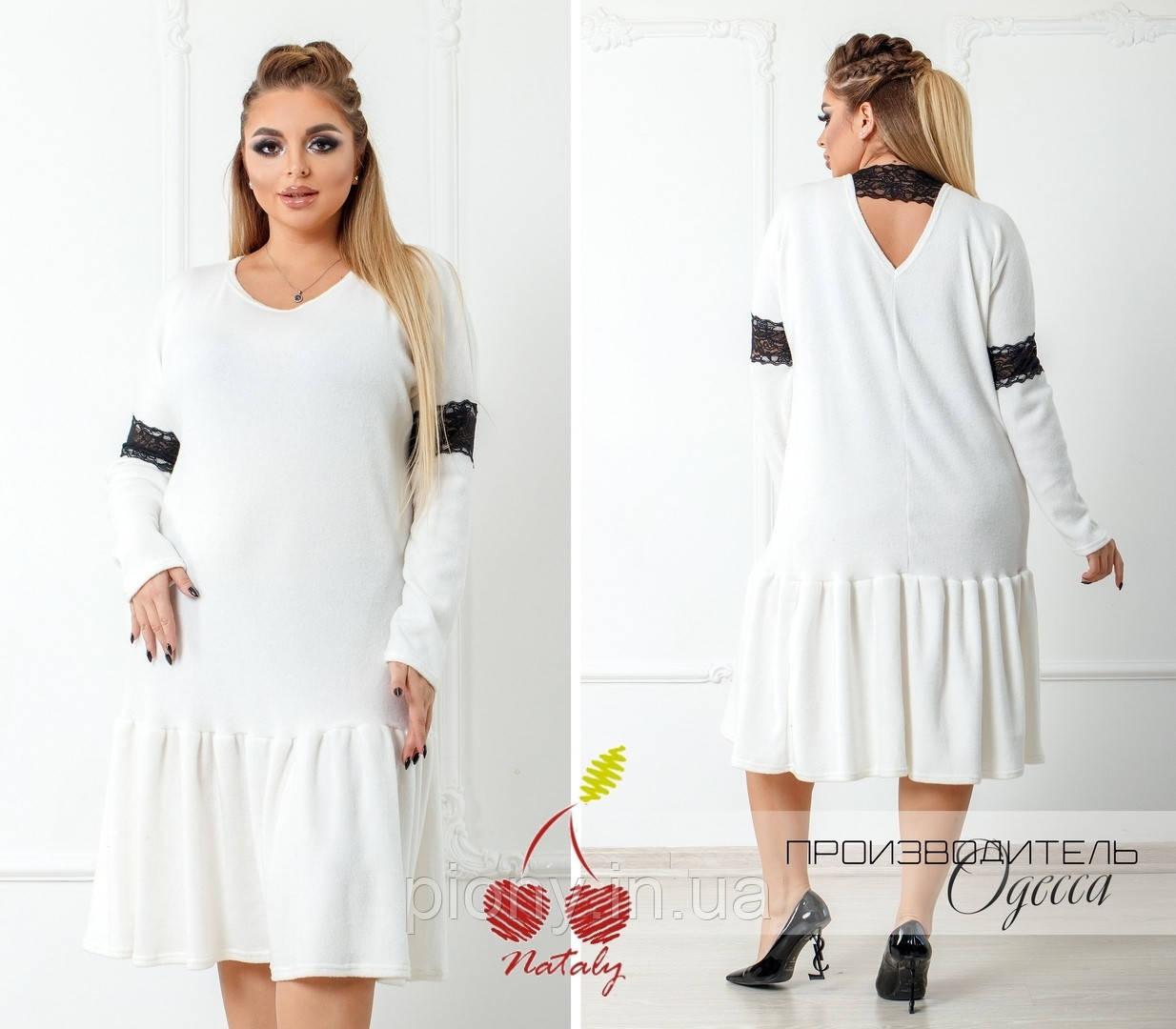 1690e6a1996 Женское Платье с кружевной отделкой Батал  продажа