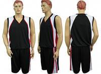 Баскетбольная форма CO-1509 черно-бело-красная