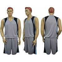 Баскетбольная форма CO-1509 черно-серая