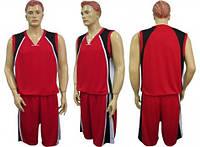Баскетбольная форма CO-1509 красно-черная