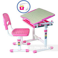 Комплект парта и стул Piccolino + лампа, розовая, фото 1
