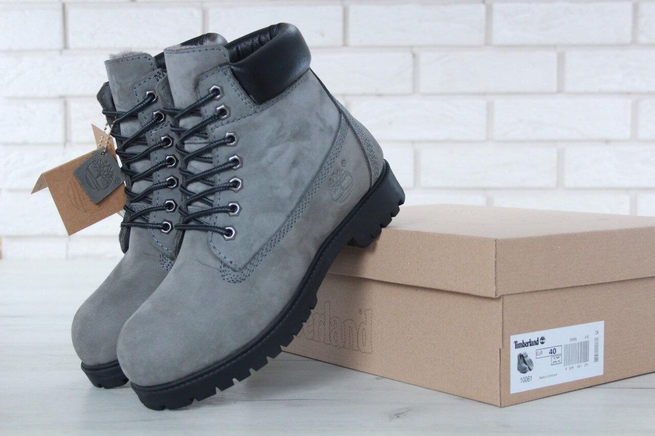 15181d1eb318 Ботинки Timberland серые на меху - Интернет магазин обуви «im-РоLLi» в Киеве