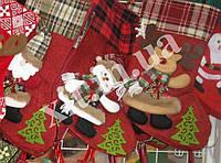 Новогодний носок для подарков. Сапожок на елку . Носок для подарков, фото 1
