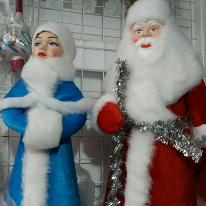 Дед Мороз и Снегурочка  под ёлку,  пара