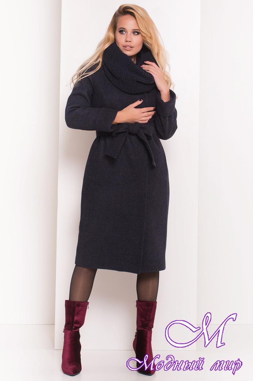 Длинное женское пальто с хомутом (р. S, М, L) арт. Богема 5707 - 38007
