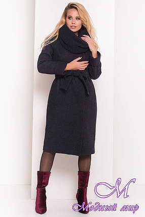 Длинное женское пальто с хомутом (р. S, М, L) арт. Богема 5707 - 38007, фото 2