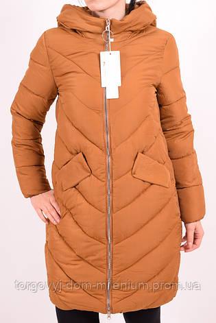 Пальто женское (цв.горчичный) из плащевки демисезонное CXYT 8895 Размер:42,44, фото 2