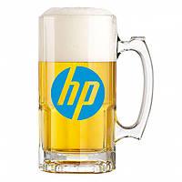 Кружка для пива с логотипом, нанесение логотипа
