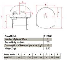 Печь для пиццы на дровах D120VK Asterm (Болгария), фото 2