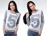 """Стильный женский свитерок """"AMOR № 5"""" в расцветках"""