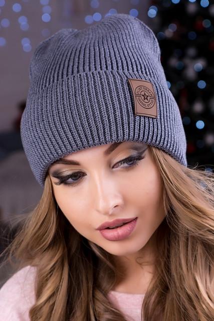 Модна жіноча шапка Челсі темно-сіра