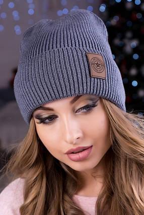 Модна жіноча шапка Челсі темно-сіра, фото 2