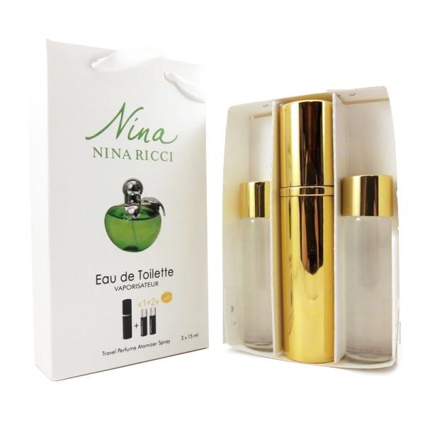Набор с феромонами - Nina Ricci Nina Plain Green Apple (3×15 ml)