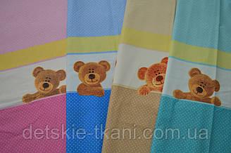 Детская польская ткань для постели-сиреневый, голубой