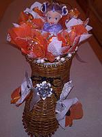 """Новогодний подарок из конфет """"Волшебные башмачки"""""""