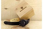 Деревянные наручные часы SkinWood Black, фото 7