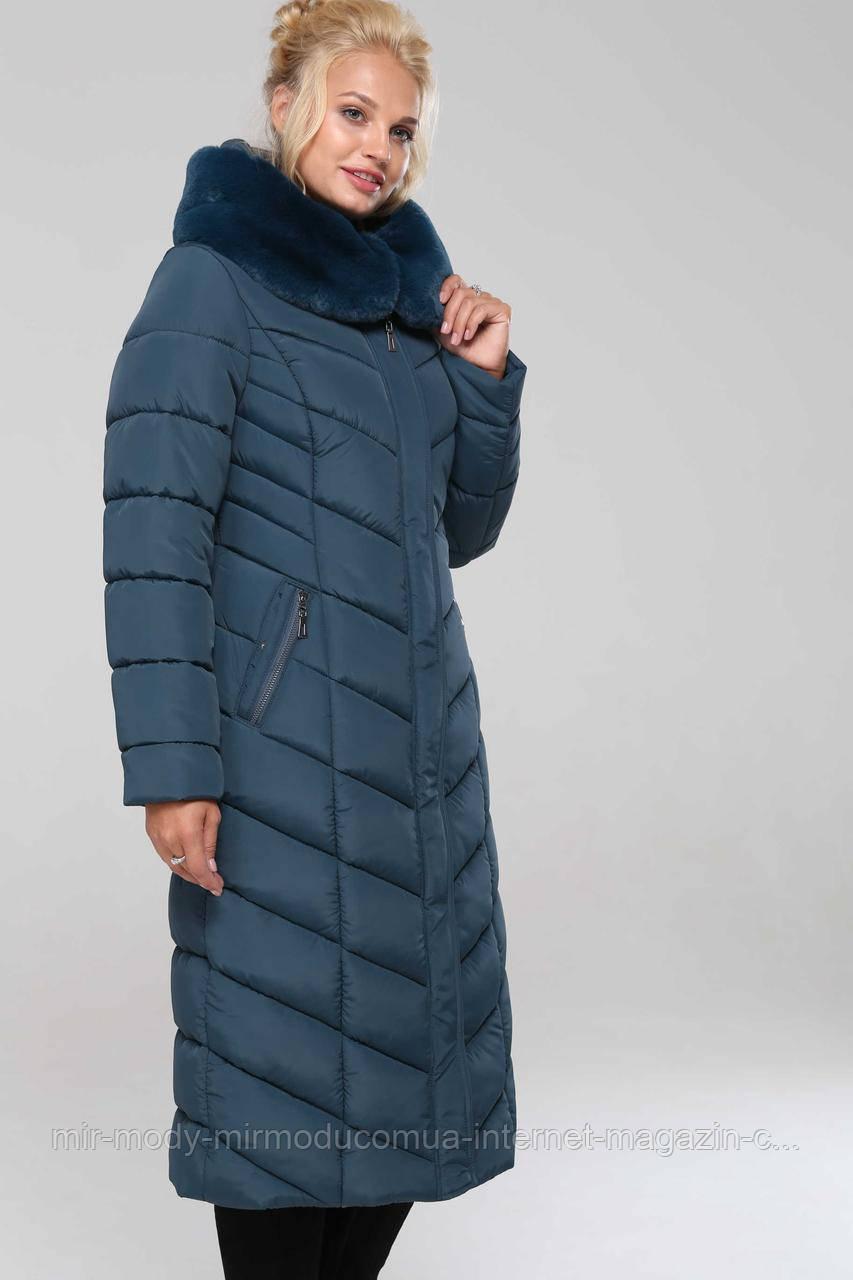 Пальто Амаретта-т.морская волна № 19-4024 с 48 по 64 размер(вр)