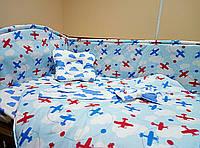 Защита в кроватку, Простынка, Конверт- одеяло на выписку новорожденного, Подушка - Бабочка