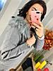 Кашемировый костюм, гладкая машинная вязка Капюшон украшен мехом. Размера: 42-46. Цвета разные (0210), фото 4