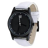 """Часы """"6 секунд"""" Black  (белый ремешок)"""