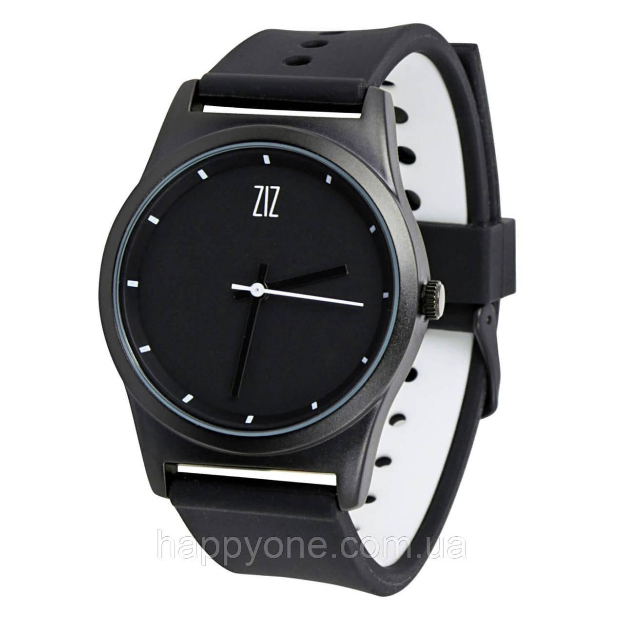 """Часы """"6 секунд"""" Black  (черный силиконовый ремешок)"""