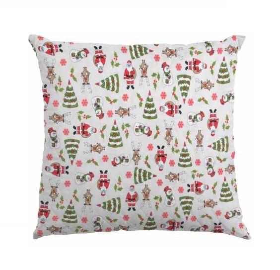 """Новогодние декоративные подушки """"Снеговик и Санта"""""""