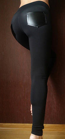 Теплые женские лосины (дайвинг и кожа) № 036, фото 2
