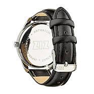 """Часы наручные """"Черный минимализм"""" (черный-серебро) + дополнительный ремешок, фото 2"""