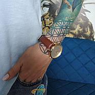 """Часы наручные """"Минимализм"""" (коричневый-золото) + дополнительный ремешок, фото 4"""