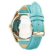 """Годинник наручний """"Мінімалізм"""" (блакитний-золото) + додатковий ремінець, фото 2"""