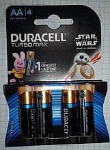 Батарейка щелочная (4шт.) DURACELL turbo maxAA 1.5V на блистере