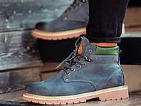 Ботинки мужские зимние нубуковые натуральный мех серые теплые модные  стильные от бренда South dc4cebb55e3
